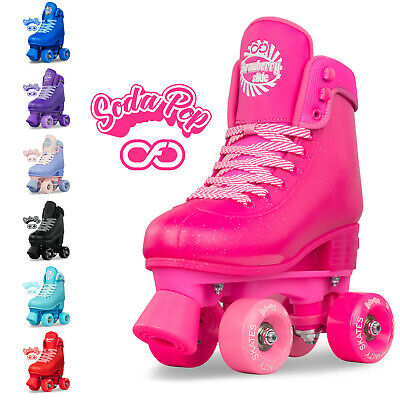 Size Adjustable SODA POP Rollerskates for Kids Girls Ladies Boot Roller Skates