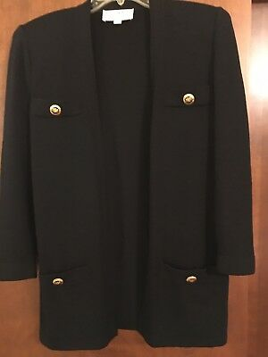 St John Collection By  Marie Gray Cardigan/Jacket Size Petite Color Black