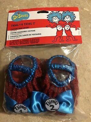 Dr Seuss Thing 1 Thing 2 Costume Shoe Covers Child Size 3-6
