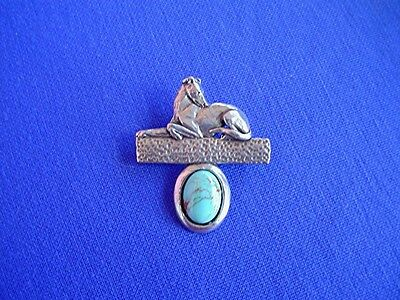 Greyhound IG WHIPPET stylized Pewter Pin Turquoise b Cindy A. Conter Dog Jewelry