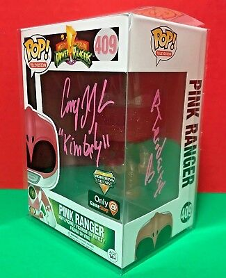 Power Rangers Pink Ranger Funko POP Signed by Amy Jo Johnson- Morphing Exclusive