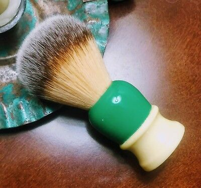 Green Made Rite # 12 Shaving Brush Restored to 22mm Maggard Synthetic knot