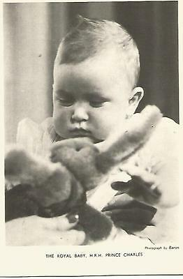 Postcard - The Royal Baby, HRH Prince Charles - scene 1 - c1940s