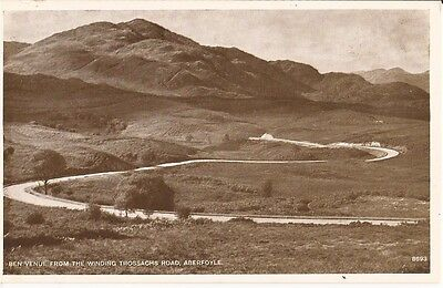 "Postcard - Trossachs - ""Ben Venue from the Winding Trossachs Road, Aberfoyle"""