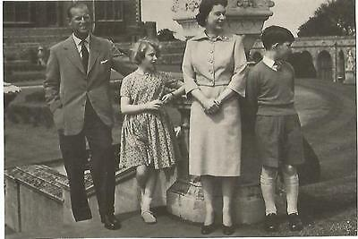 Postcard - The Royal Family at Windsor - c1950s