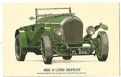 Postcard - 1925 - 3 Litre Bentley - c1960s