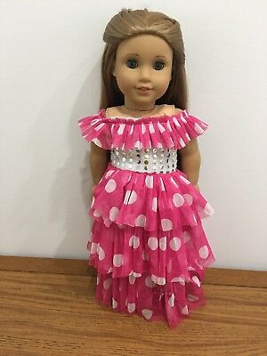 """Ruffled Princess or Fairy Dress Gown Fits 18"""" American girl Doll Clothes"""