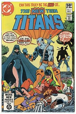 New Teen Titans #2 VF/NM 9.0 white pages  1st Deathstroke the Terminator  1980