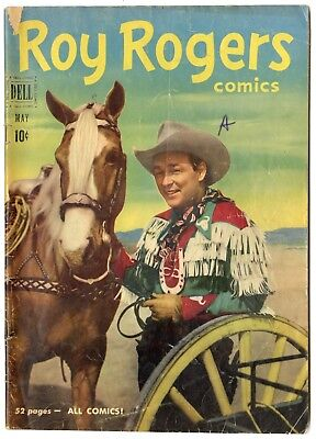 Roy Rogers Comics #41 VG- 3.5 ow/white pages  Photo Cover  Dell  1951  No Resv