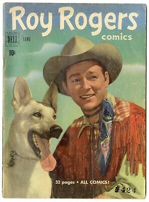 Roy Rogers Comics #42 VG+ 4.5 ow/white pages  Photo Cover  Dell  1951  No Resv