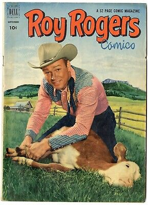 Roy Rogers Comics #57 VG/FN 5.0 ow/white pages  Photo Cover  Dell  1952  No Resv