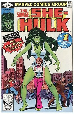 She-Hulk #1 VF/NM 9.0 ow/white pages  Marvel  1980  No Reserve