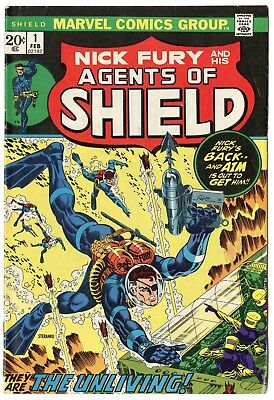 SHIELD #1 FN 6.0 ow/white pages  Marvel  1973  No Reserve