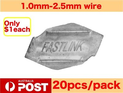 20X Fastlink Wire Joiners Fence Fencing Joiner Works With gripple Tensioning