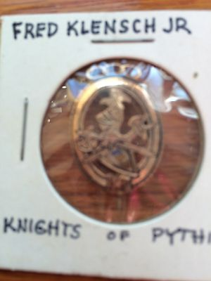 Knights of Pythias FCB Pin late 1800's 10K Gold