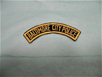 Obsolete Baltimore City Police Rocker Patch - Late 1940's Early 1950's NOS