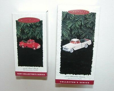 NEW Hallmark Christmas Ornament All American Truck 1956 Ford 1955 Cameo