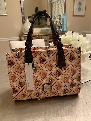 Dooney And Bourke Disney Dogs Lady And The Tramp Satchel SOLD OUT NWT