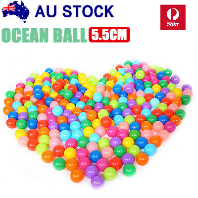 800pc Ball Pit Balls Play Kids Plastic Baby Ocean Soft Toy Colourful Playpen Fun