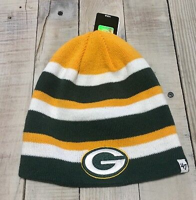 Green Bay Packers Iconic Knit Stocking Hat -Reversible-One Size Fits Most -New e54fd5777