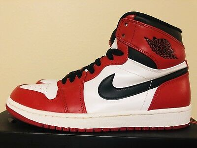 Nike Air Jordan 1 I CHICAGO 9.5 2013 Bred toe black royal 322550 160