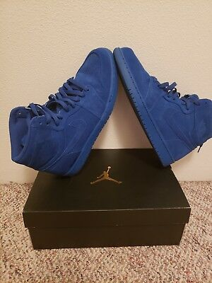 Nike Air Jordan 1 Retro High Team Royal Blue Suede 332550-404 Men's Size 12