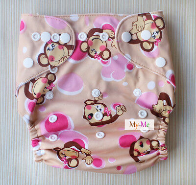 Baby Boy Girl Cloth Diaper One Size Adjustable Hip Snaps Nappy Pocket Cover H08