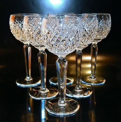 6 Waterford Crystal ALANA Wine Hocks, EXCELLENT Condition, Free Shipping in USA
