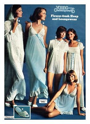 70's Vintage Catalog Ad Lingerie Underwear Paper Print Clippings