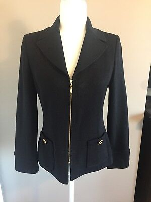 St John Collection Black Jacket With Gold Buttons In Size 4