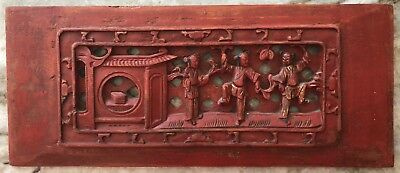 Antique Intricate Chinese Wood Carvings Qing Dynasty 17th~19th Century~~98% Mint