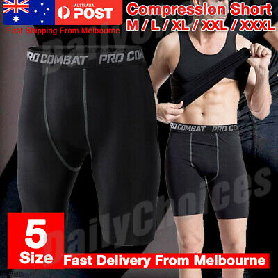 Men Sports Compression Shorts Pants Fitness Under Skin Base Layer Tights Pant AU