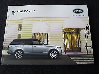 2016 Range Rover Brochure HSE Supercharged Autobiography Land Rover Catalog