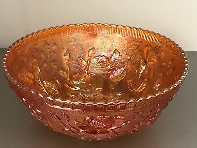 Imperial Carnival Glass Bowl - Rose