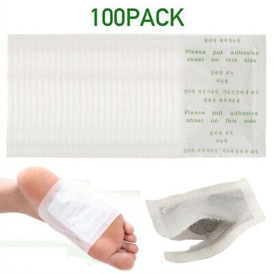 100 PCS Detox Foot Pads Kinoki Patch Detoxify Toxins Fit Health Care Pad FDA New