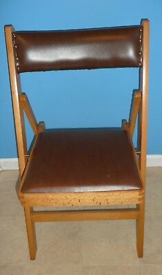 Pair of Mid-Century Modern Padded/Slatted Wood Vintage Folding Chairs, Romania