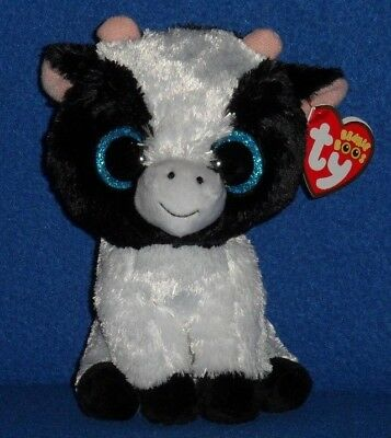 """TY BEANIE BOOS - BUTTER the 6"""" COW - MINT with MINT TAGS"""