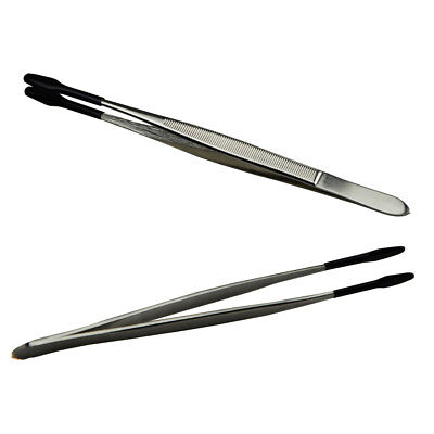 Stainless Steel Tweezer for Jewelry/Coin/Stamp Collection Handling Tool