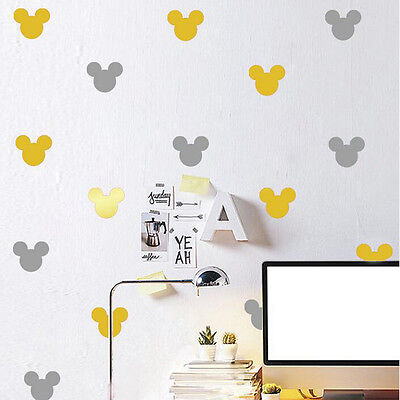 1set Removable Creative Multicolor Mickey Mouse Wall Stickers Room Decoration