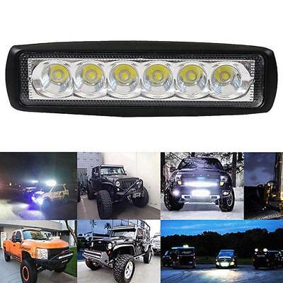 18W Spot LED Bright Lights Work Bar 800LM Driving Fog Offroad SUV Car Boat Lamp@
