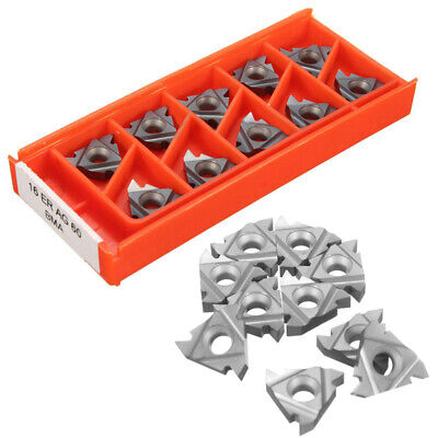 10X 16ER AG60 VP15TF Carbide Inserts External Thread Blade Turning Tool Kit UK