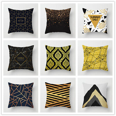 Geometric Pattern Pillow Cases Polyester Throw Cushion Cover Home Sofa Car Decor