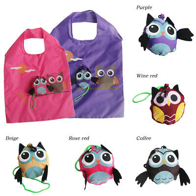 Animal Shopping Bag Folding Eco-friendly Owl Reusable Tote 1PC Cute Gift