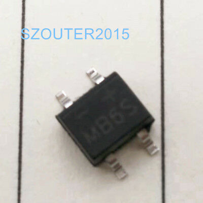 20PCS MB6S 0.5A 600V Miniature Mini Smd Bridge Rectifier SOP-4 NEW