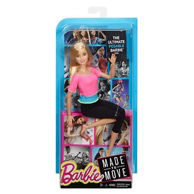 BARBIE Doll Made To Move NEW! Pink Top/Blue Top/Brown Hair/Karate