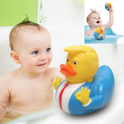Donald Trump Rubber Bathing Floating Duck Baby Kids Shower Bath Tub Toy Fun Gift