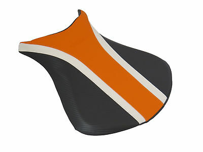 KAWASAKI ZX6-R 07-08 Seat - Orange/White/Black - Powerbronze