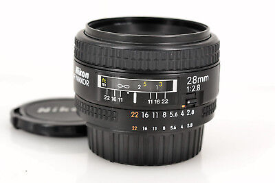 Excellent+++ Nikon AF NIKKOR 28mm f/2.8 NEW from Japan