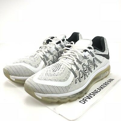 52da9738dae Nike Air Max 2015 Men s Size 11 White Black 698902-101 Training Running  Shoes