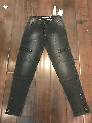 brand new with tags-tractr jeans, black, girls size 16